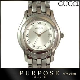 グッチ GUCCI 5500L レディース 腕時計 デイト シルバー 文字盤 クォーツ ウォッチ