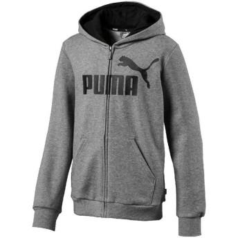 プーマ PUMA ジュニア マルチSP スウェット・トレーナー ESS フーデッド スウェットジャケット 853676 03MEDIUM GRA