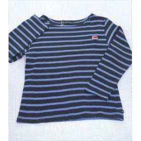 Weekend a la Mer ウィークエンドアラメール 長袖Tシャツ ロンt 120cm 青系 ボーダー トップス 女の子 キッズ 子供服 通販 買い取り