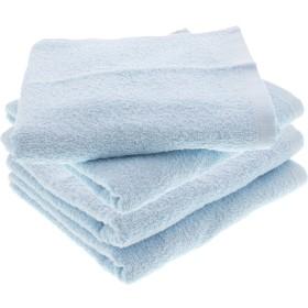 フェイスタオル DAILY TOWEL 毎日使いやすい ブルー DF004 (2枚組2セット・計4枚)