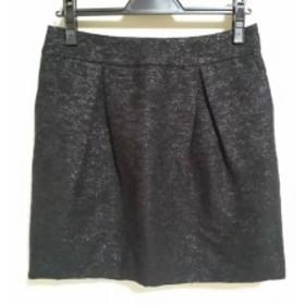 アドーア ADORE スカート サイズ38 M レディース 美品 黒 ツイード/ラメ【中古】