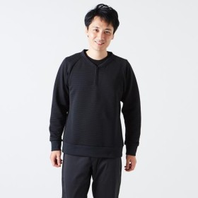MIZUNO SHOP [ミズノ公式オンラインショップ] ブレスサーモリップルキルトプルオーバー[メンズ] 09 ブラック B2JC8556