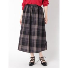 【大きいサイズレディース】【LL展開】チェックタックフレアースカート スカート フレアスカート