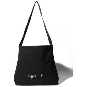 アニエスベー ボヤージュ GO03-03 ロゴショルダーバッグ レディース ブラック F 【agnes b. Voyage】