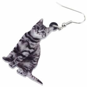 アメリカンショートヘア リアルステンレスピアス/1個販売 20G 20ゲージ 猫 ねこ ネコ キャット アニマル 動物 可愛い おもしろ オモシロ