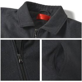 ジャケット・ブルゾン - ROCK STE メルトン 中綿 ブルゾン メンズ アウター ジャケット ウール ジップアップ ROCK STE ロクステ