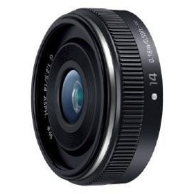【パナソニック】 交換用レンズ マイクロフォーサーズ H-H014A-K 交換用レンズ