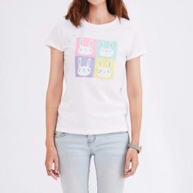 ボボバラエティ面白い格子縞の短いTシャツ