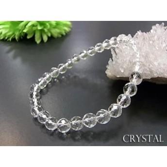 パワーストーン 天然石 ブレスレット 水晶 A カット 6mm玉 数珠 念珠 お試し価格
