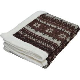 京都西川 2CJ5862 ノルディック ブラウン 合わせ毛布 シングル 毛布・タオルケット