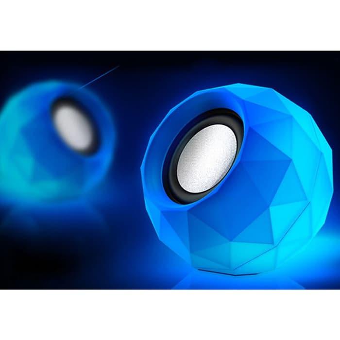 Speaker USB / Speaker Laptop komputer / Speaker Mini USB / Diamond M01 - Biru
