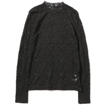 ビームス ウィメン Ray BEAMS / ストレッチ レース ロングスリーブ Tシャツ レディース BLACK ONESIZE 【BEAMS WOMEN】