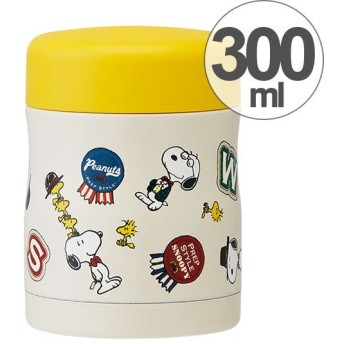 スープジャー 保温・保冷フードジャー 300ml スヌーピー プレッピースタイル ( お弁当箱 スープポット 保温容器 )