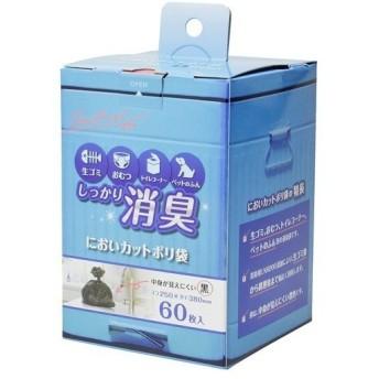 ストリックスデザイン しっかり消臭 においカットポリ袋 黒 ( 60枚入 )/ STRIX DESIGN(ストリックスデザイン)