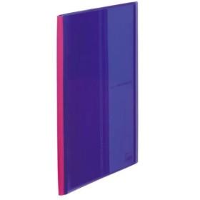 キングジム クリアーファイル パタント(透明)A4縦10P紫