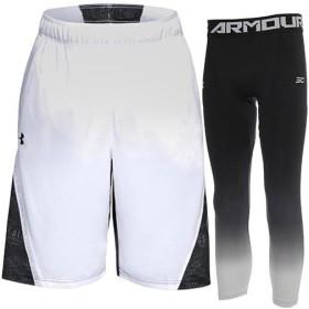 アンダーアーマー(UNDER ARMOUR) メンズ バスケットボール ハーフパンツ&タイツ WHT BLK BLK/BLK WHT WHT 1317398/1317425 バスケ ウェア 練習 トレーニング