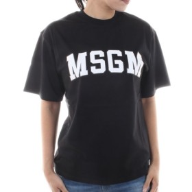 【送料無料!】エムエスジーエム MDM162 99 ブラック サイズ S レディース 半袖Tシャツ 【MSGM BK】  2018秋冬