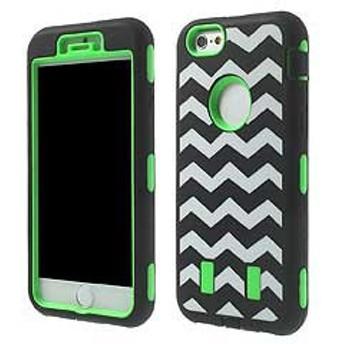 iPhone 6s / iPhone 6 iPhone6s ケース / iPhone6 ケース 4.7 inch 3 in 1 PC +シリコン ハードケースカバー グリーン 電化製品
