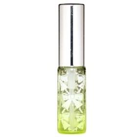 キラキラ ラメ リボン ガラスアトマイザー シルバーピカアルミキャップ プラスチックポンプ 68207 (ラメリボン イエロー) 4ml