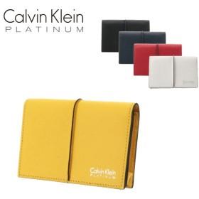 227db5f97334 シーケー カルバンクライン 名刺入れ メンズ スパイン 819602 CK CALVIN KLEIN カードケース 牛革 本革