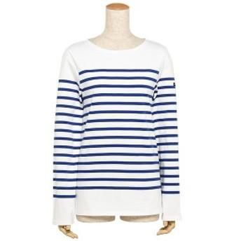 セントジェームス ナヴァル NAVAL メンズ レディース ロングTシャツ SAINT JAMES 2691 90 ホワイト ブルー