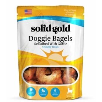 歯ごたえのあるおやつ ソリッドゴールド ガーリック ドギー ベーグル (犬用) 409g 正規品 【犬/おやつ/ビスケット】