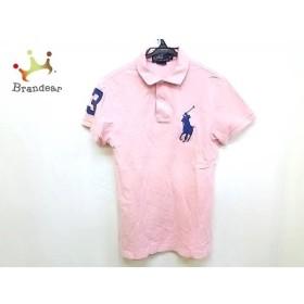 ポロラルフローレン 半袖ポロシャツ サイズS メンズ ビッグポニー ピンク×ネイビー コットン   スペシャル特価 20190522