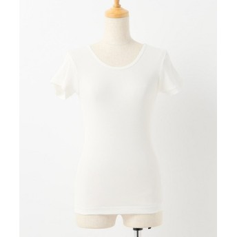 SLOBE IENA LE DENIM リブTシャツ ホワイト フリー