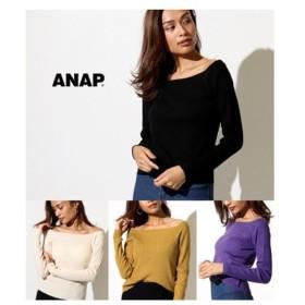 ANAP(アナップ)【ANAP】リブボートネックニットトップス