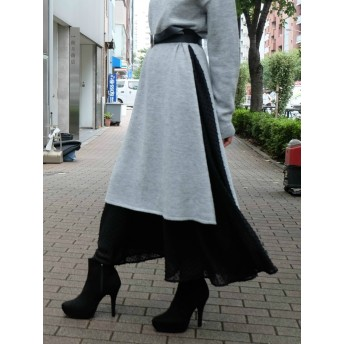 [RESEXXY]【WEB限定】ドットデザインロングスカート
