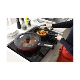 アイリスオーヤマ フライパン 鍋 12点 セット IH対応 オレンジ 「ダイヤモンドコートパン」 取っ手の取れる H-IS-SE12