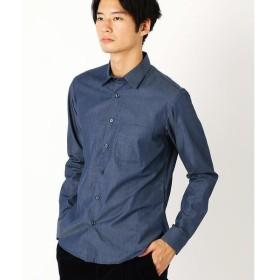 COMME CA ISM / コムサイズム シャンブレーシャツ(チビ襟)