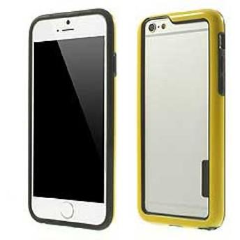 【iPhone 6s / iPhone 6】 iPhone6s ケース / iPhone6 ケース 4.7 inch 超薄型軽量 バンパーケースカバー イエロー 2 電化製品