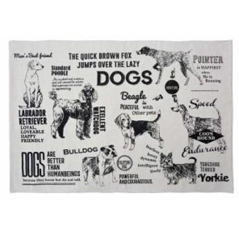 コットンマット ラージマット ドッグポスター フロアマット フロアーマット キッチンマット 玄関マット おしゃれ 犬