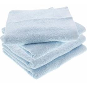 フェイスタオル DAILY TOWEL 毎日使いやすい ブルー DF004(2枚組2セット・計4枚)[日用品 その他]