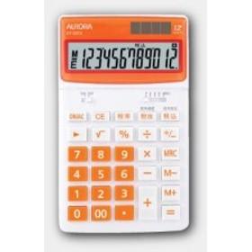 その他 オーロラ デスクトップ電卓 オレンジ DT125TXO (2428452)