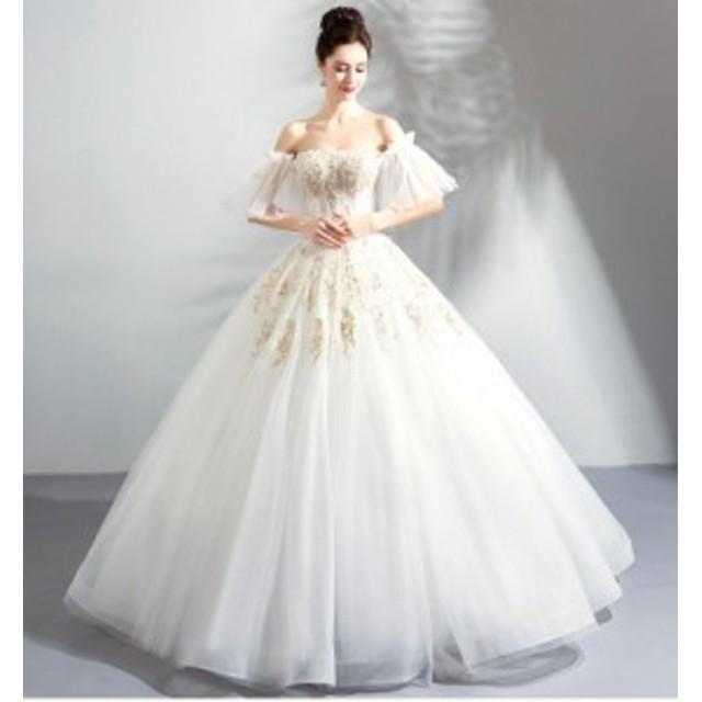e80038dfc4a3e 超豪華ウエディングドレス プリンセスラインドレス 花柄 ロングドレス パーティー