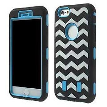 【iPhone 6s / iPhone 6】 iPhone6s ケース / iPhone6 ケース 4.7 inch 3 in 1 PC +シリコン ハードケースカバー ブルー
