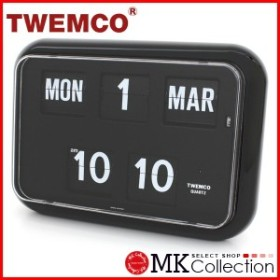 オータムセール数量限り!ポイント15倍! トゥエンコ 置時計 ブラック 正規品 TWEMCO クロック インテリア 時計 オシャレ QD-35 BLACK