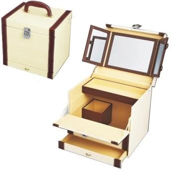 ユーパワー スウィート コスメ ボックス ホワイト&ブラウン SB-07012