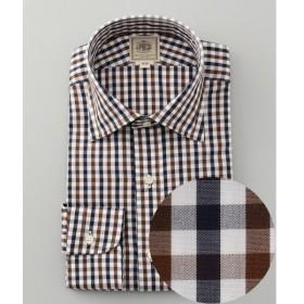 J.PRESS / ジェイプレス 【100% SUPER FINE COTTON】チェック ワイドカラーシャツ