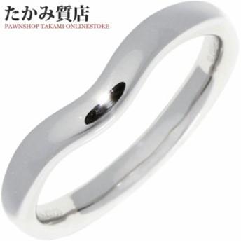 ティファニー Tiffany&Co. Pt950 エルサペレッティ ワイドカーブドバンドリング 指輪(リング) メンズリング 21.5号