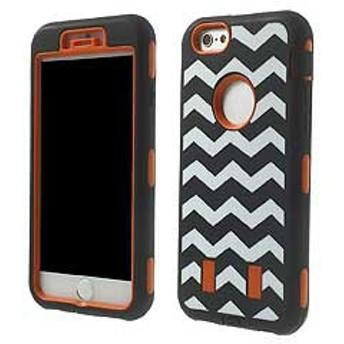 【iPhone 6s / iPhone 6】 iPhone6s ケース / iPhone6 ケース 4.7 inch 3 in 1 PC +シリコン ハードケースカバー オレンジ