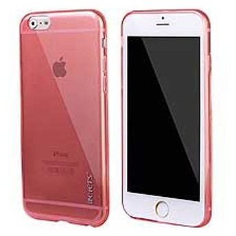 【iPhone 6s / iPhone 6】 iPhone6s ケース / iPhone6 ケース 4.7 inch 超薄型軽量 ハードケースカバー クリア レッド 電化製品