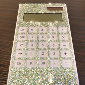 電子卓上計算機(電卓)スワロフスキーデコレーション