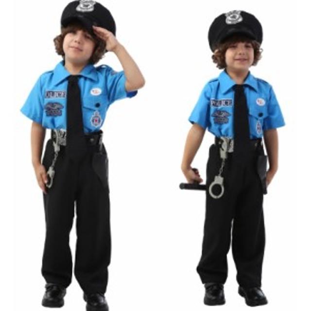 050ccbe890442 警察官 子供 ハロウィン仮装衣装 子供衣装 6点セット コスプレコスチューム 幼稚園 演出服