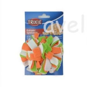 TRIXIE フリース ポンポン ボール 《フリースで作られたボールのおもちゃ》【猫 おもちゃ】