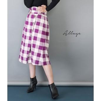 【セール開催中】ANAP(アナップ)ブロックチェックベルトデザインスカート