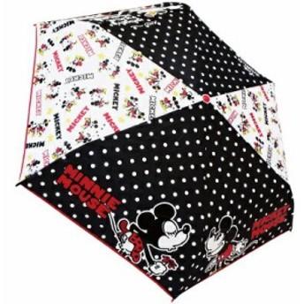 【送料無料】折畳傘 ミッキー&ミニー キス KISS 53cm 90254 ジェイズプランニング キャラクター かさ 折りたたみ傘 プレゼント