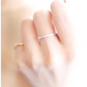 lineate silver ring -slender- 【受注製作】